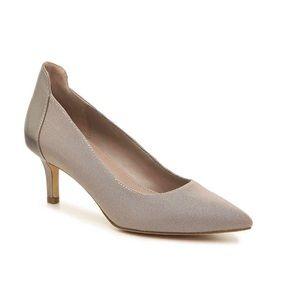 Donald Pliner Flory Metallic Stretch Mesh Heels